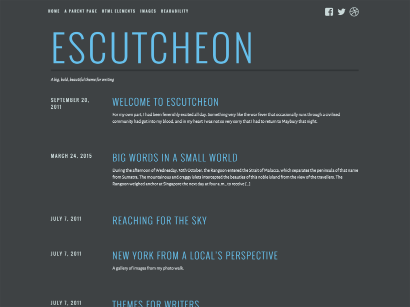 Escutcheon WordPress Theme